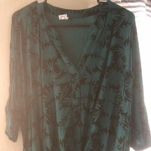 Anthropologie teal blouse